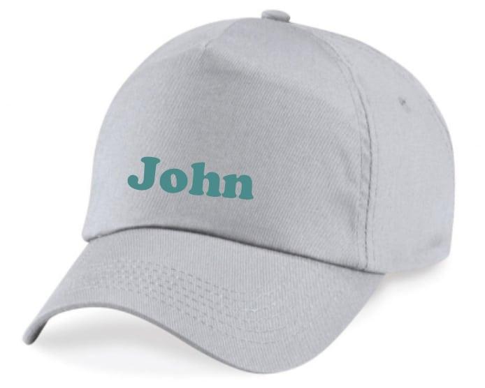 Volwassen Cap met naam (grijs)