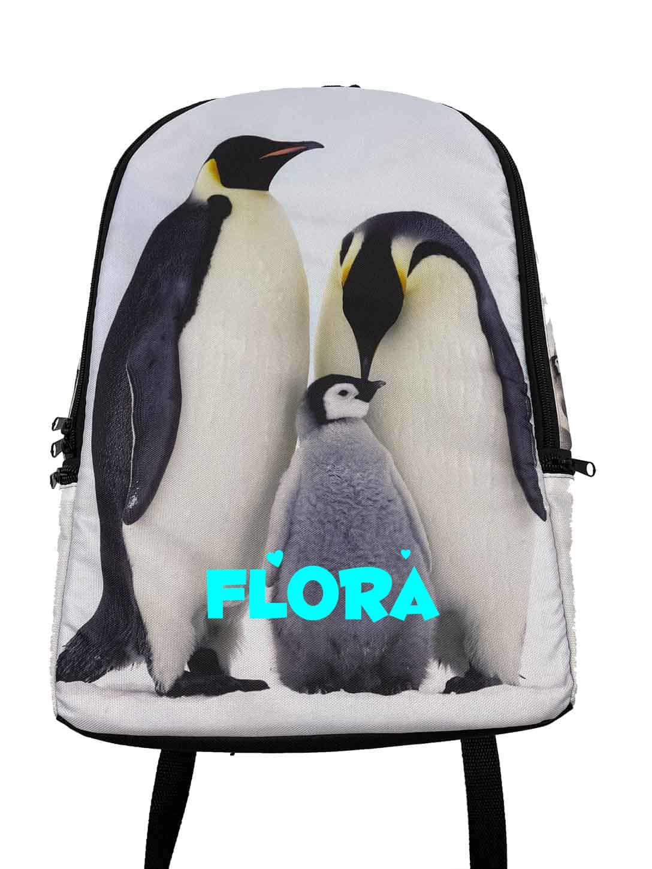 Kinderrugtas Dieren Pinguin met naam