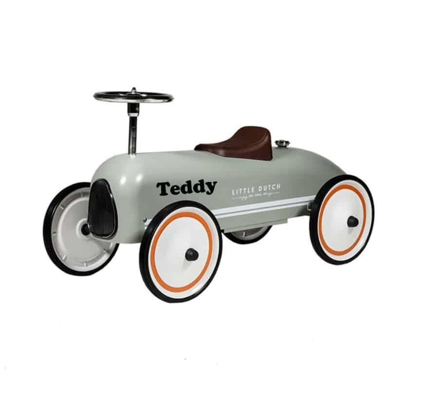 Loopauto Retro Roller olive Little Dutch