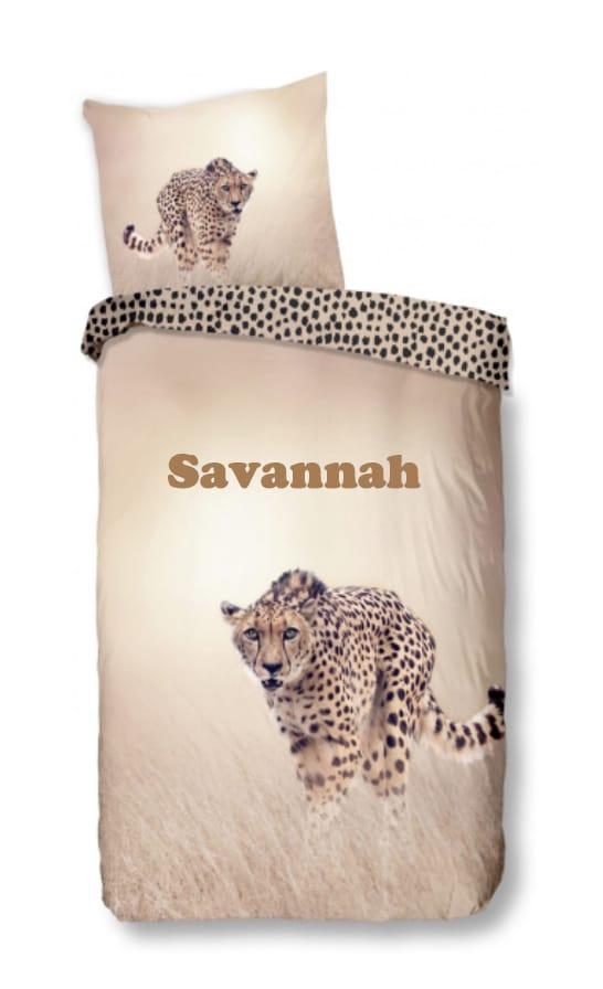 Dekbedovertrek Goodmorning Cheetah met naam